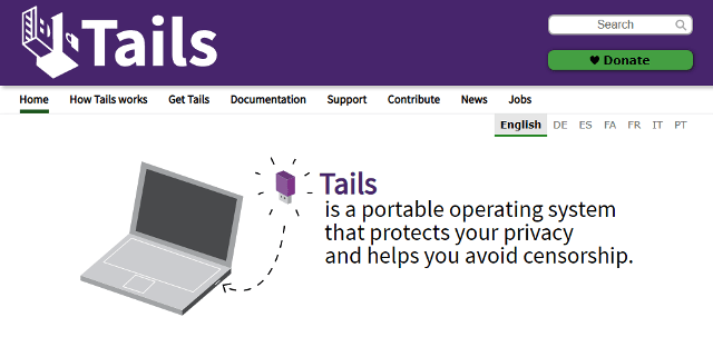 tails is a secure and portable