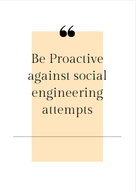 Be Proactive against social engineering attempts website security