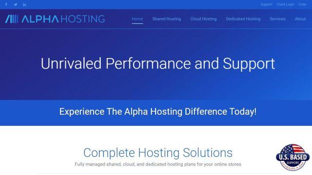 Alpha Web Hosting Review