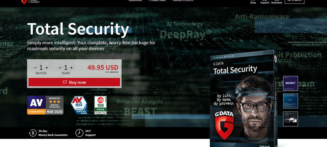 g data total security reviews