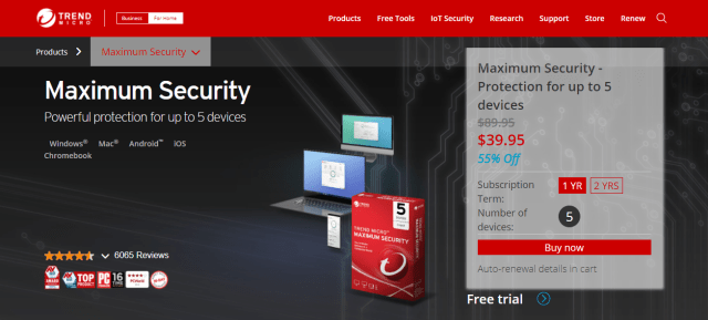 what is Trend Micro Maximum Security