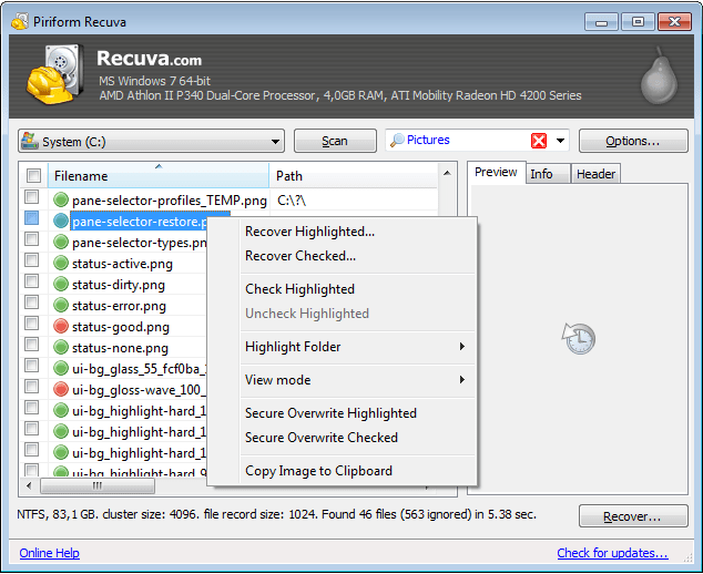 Recuva is a Windows data recovery tool