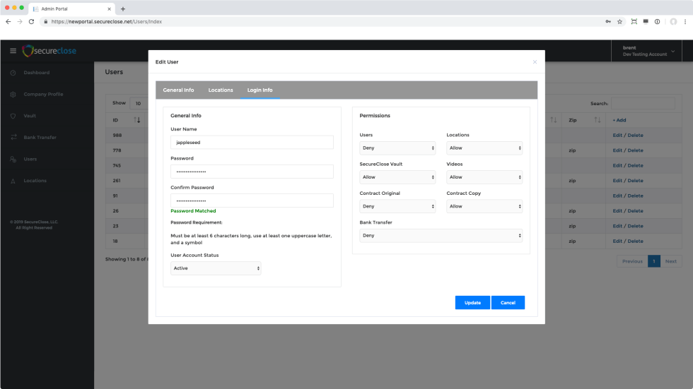 Adding a New User in the New Admin Portal | SecureClose