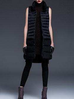 Black Cocoon Sleeveless Waistcoat