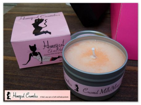 1- Cat On A Hot Tin/coconut milk, mango soy candle