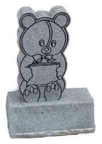 bear design with sandblasting
