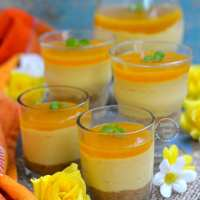 No-Bake Mango Cheese Cake with Agar Agar
