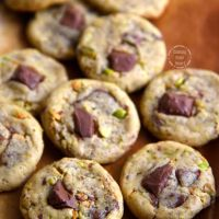 Eggless Chocolate Chunk Cookies | Eggless Chocolate Chunk Pistachio Cookies
