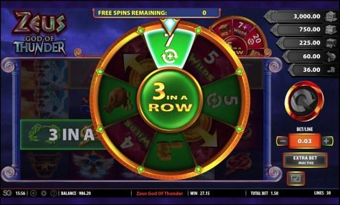 Zeus God of Thunder casino slot game