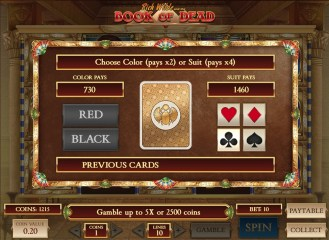 Book of Dead casino slot game