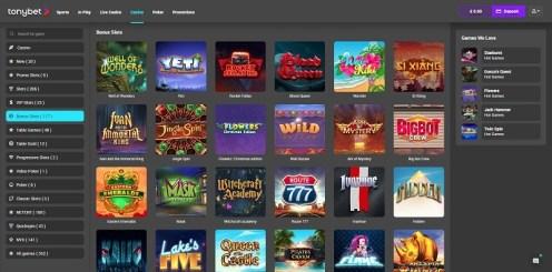 TonyBet online casino review