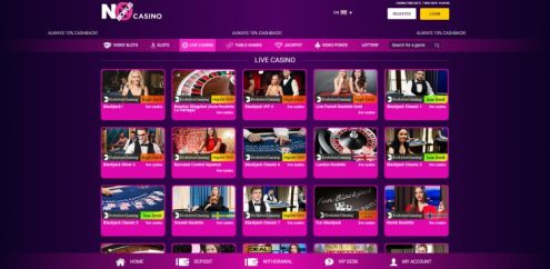 No Bonus Casino Live Casino