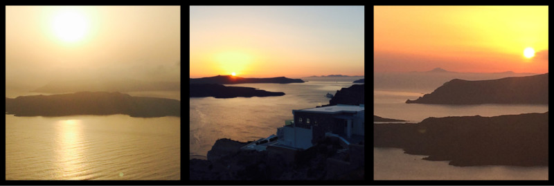 Sunsets from Santorini