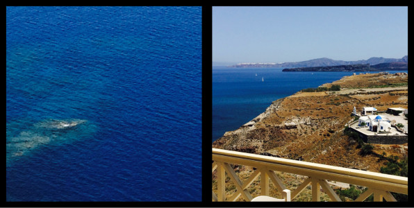 View from the Taverna Akrotiri Santorini Greece