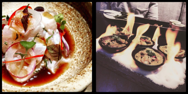 Ceviche and Seafood Fire Starters @ Tesoro Peruvian Restaurant. Business Bay Dubai.