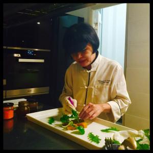Chef Margaret Xu Yuan doing what she does best. Yin Yang Coastal Hong Kong