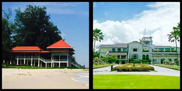 The first Summer Palace & Klaikangwon - the current Summer Palace. Hua Hin Thailand