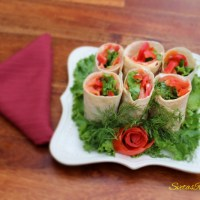 Lavash Roulette with Salmon