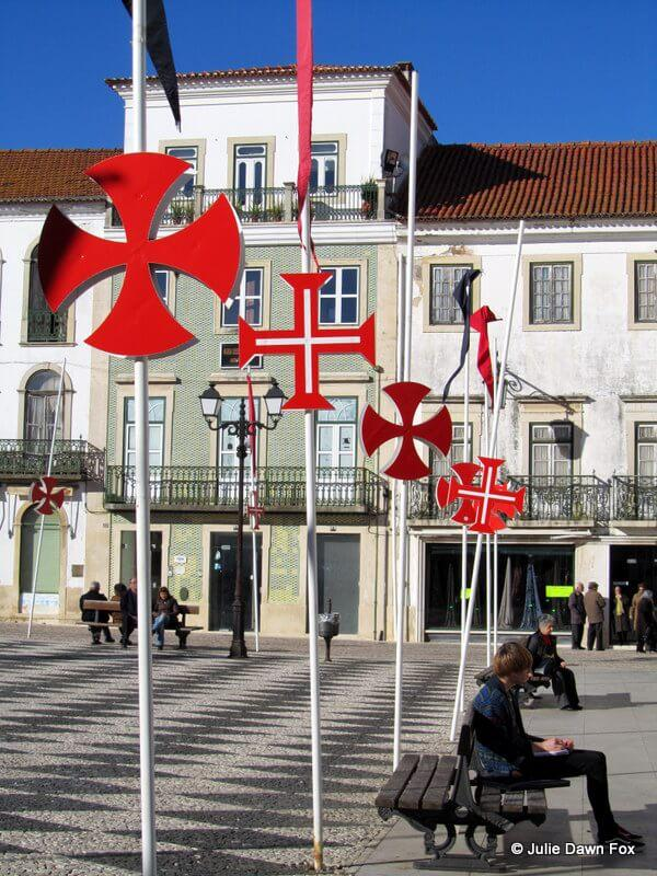 Red crosses of the Templar Knights, Tomar, Portugal