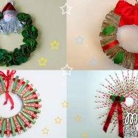 Adornos Navideños - 5 Coronas de Navidad