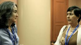 Jennifer Parker (2010 Caucus President), Marcia Ciol (2008-9 Caucus President)