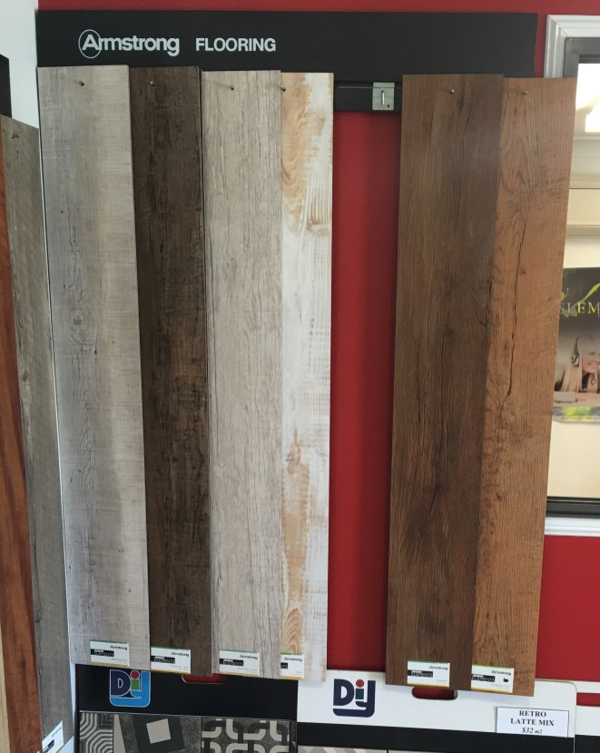 Selection of vinyl planking