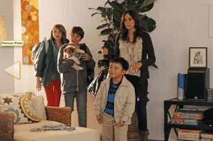"""Still of Michaela Watkins, Ryan Lee, Gianna LePera and Albert Tsai in Trophy Wife (2013) Photo by Peter """"Hopper"""" Stone - © 2013 American Broadcasting Companies, Inc. All rights reserved."""