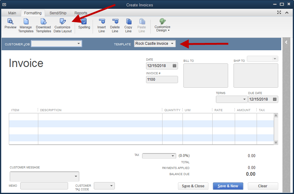 Adding The Company Phone Number To An Invoice Template