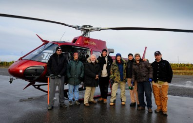 VFX Plate Crew, waiting out the rain, Kujuuaaq Quebec, RIDDICK, 2011.