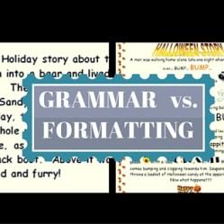 GRAMMAR VS. FORMATTING(1)