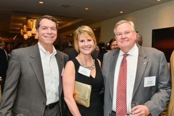 George Wilson (ECS Federal), Phoebe Henderson (ZRG Partners) and Richard White (Capstone Corporation) at the 8th Annual SECAF Awards Gala