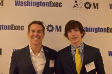 """""""Engaging, learning and inspiring are what makes the WashingtonExec High School and College Leadership Program invaluable to its Generation Z participants,"""" said Rick Sullivan, vice president at Hewlett Packard Enterprises. He is pictured here with his son, Grant."""