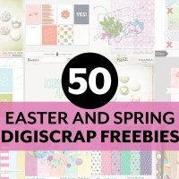 50 Easter and Spring Digital Scrapbooking Freebies