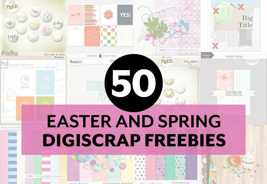 50 Easter and Spring Digital Scrapbooking Freebies