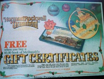 Norman Rockwell Ornament ad