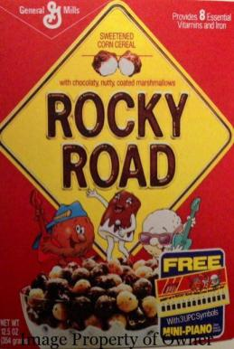 General Mills Rocky Road cereal author unknown