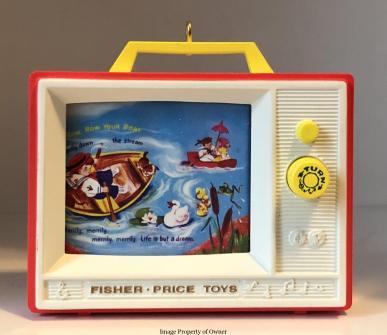 FP Hallmark 2012 Two Tone TV ornament