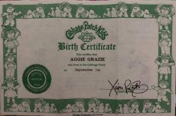 CPK 'Kid Birth Certificate