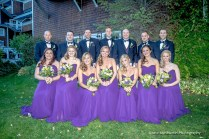 Bridal party posing for a photo