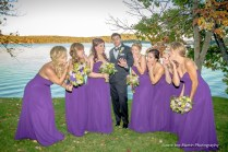groom with brides maids