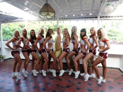 IPL6 with the Delhi Daredevils White Mischief Cheerleaders