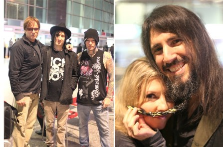 Working for Guns N' Roses India Tour - meeting the guys at the Bangalore airport for a 4am photo shoot