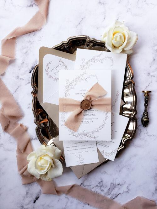 Botanical Wedding Invitations With