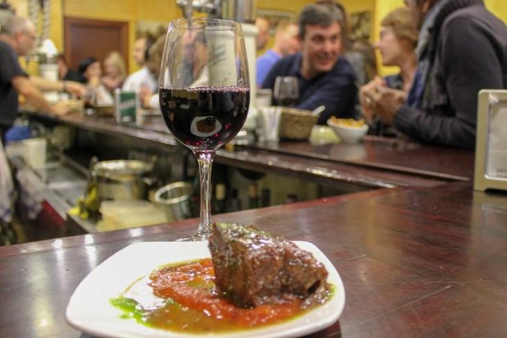 Recommended Carrillera de tenera Beef Cheeks at Bar Borda-Berri in San Sebastian, Spain