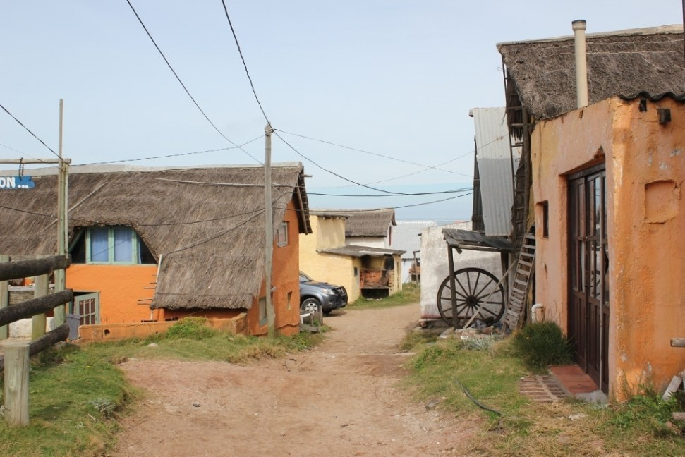 Older, oceanfront homes in Punta del Diablo, Uruguay