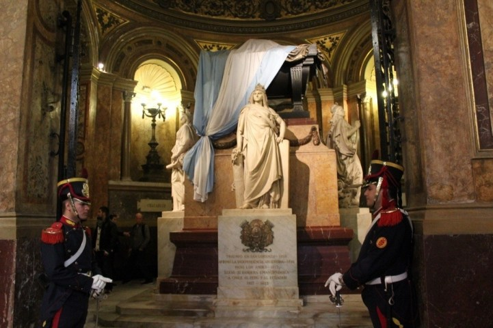 Tomb of Jose de San Marin Liberator of Argentina in Metropolitan Cathedral in Buenos Aires, Argentina