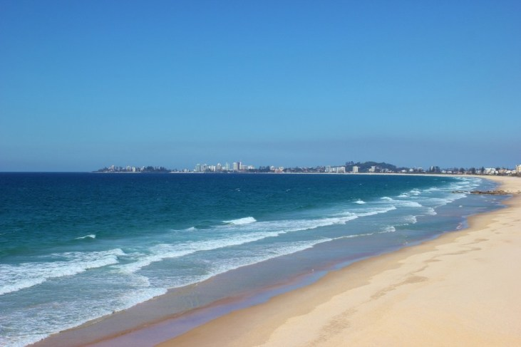 View from Elephant Rock in Currumbin south to Coolangatta, Gold Coast, Australia
