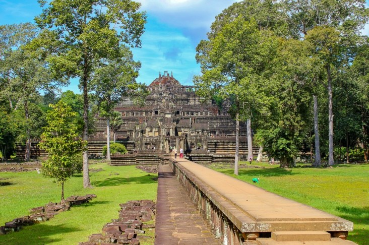 Long causeway to Baphuon Temple at Angkor Park in Siem Reap, Cambodia