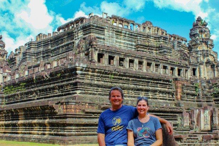 Touring inside of Baphuon Temple at Angkor Park in Siem Reap, Cambodia