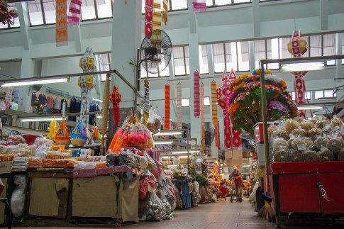 Market goods in Chinatown, Chiang Mai, Thailand